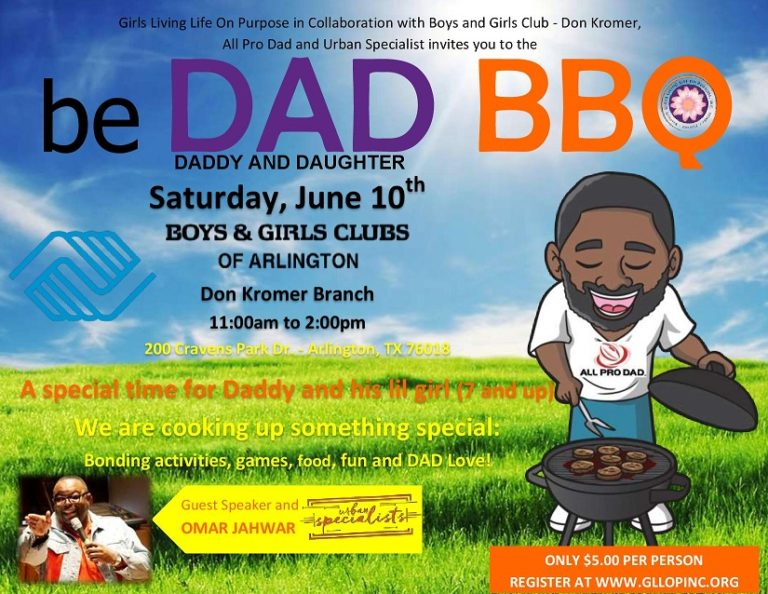 Be DAD BBQ just for Daddy and His Lil Girl – JOIN US
